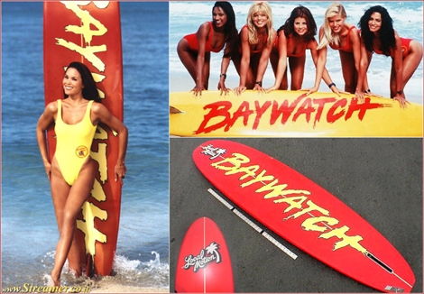 bay watch most expensive surfboard הגלשן היקר ביותר בעולם