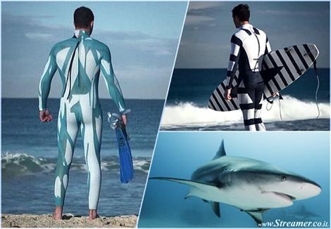 shark proof wetsuit חליפת גלישה דוחתה כרישים בצבעי הסוואה