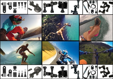 go with pro mounting photo אביזרים ןצליום עם גו-פרו