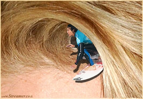 surfers hair שיער של גולשים