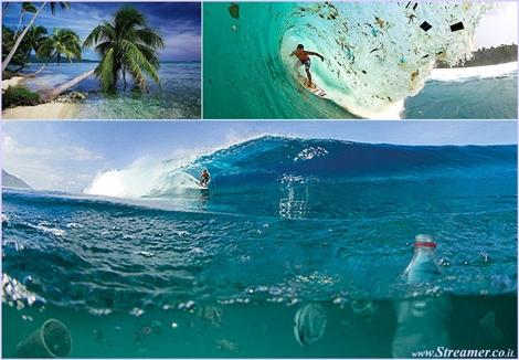 indo in trash גלים של אשפה בבאלי אינדונזיה