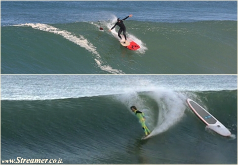 from sup to surfboard מסאפ לגלשן אלאיה