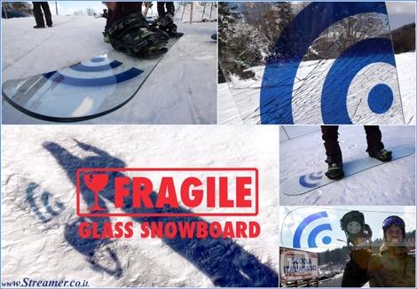 galss made snowboard סנוובורד סנואבורד מזכוכית