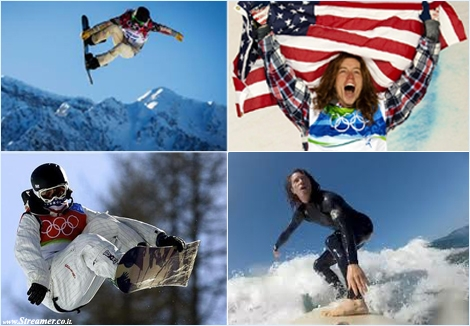 shaun white snowboarder surfer olympics שון ווייט סנובורדר גולש אוימפיאדה