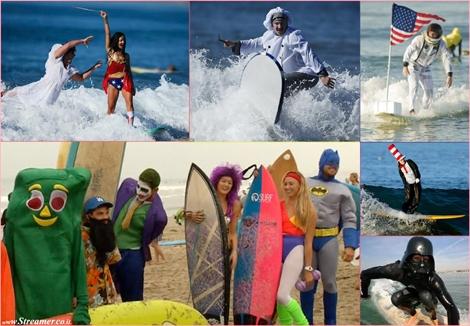 משנכנס אדר מרבין בגלישה: מתחפשים על הגלים:) Purim & Halloween: Surfing with castumes