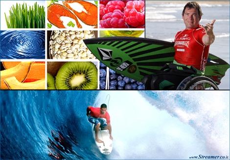 גלים של בריאות: הגלישה כרפואה משלימה Surf-Med: Syndrome treatments and healthy food