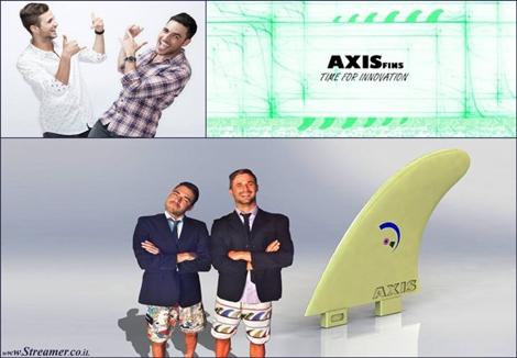 axis fins flex surfboard fins חרבות סנפירים גלשן גמיש