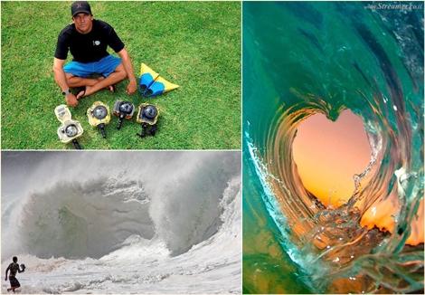 תחת שבירות הגלים - קלארק ליטל מצלם על החוף Clark Little -The unique shorebreak photography