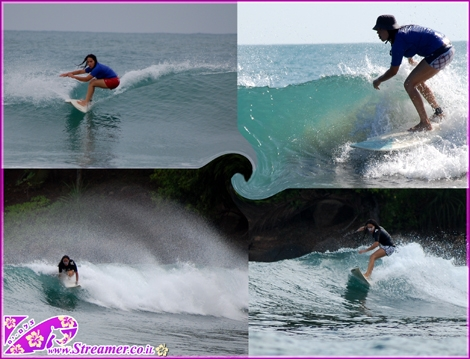 avishag surfing sri-lanka אבישג גולשת בסרי-לנקה