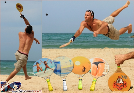 "<font color=""#003366""><strong><font color=""#a30000""><strong>Matkot</strong> - the national  beach tennis of Israel</font> is a fun , phisical and  social game played on  every little piece of sand along the coast of  Israel. With a small  wooden racket and a rubber ball this game has  become very popular among  men and women in all ages. Now a day,  Matkot has become more  progresive as far as the racket material and  proffessionality of  players. Victor Barda from Ashqelon is a pro Matka  player and  manufacturer who is printing original Streamer's photos on  the  Matkas:-) <a href=""http://streamer.co.il/gallery/cat/matkot_-_israel_s_national_beach_tennis/"">Click here to watch the gallery</a>.</strong></font>"