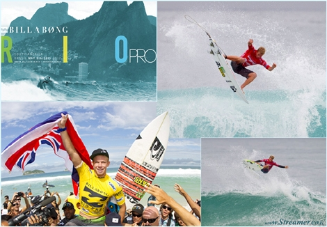 "<font color=""#003366""><strong><font color=""#ad0000"">John John Florence</font>  (HAW), 19, has won his maiden ASP World Championship Tour event, taking  out the Billabong Rio Pro over Joel Parkinson (AUS), 31, in barreling  three-to-four foot (1 metre) waves at Barra da Tijuca. <a href=""http://streamer.co.il/news/view/335/"">Click here to read more</a></strong></font><br />"