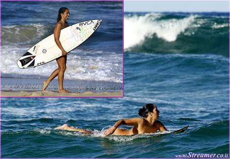 "<font color=""#003366""><strong><font color=""#990099"">Marama Kake</font>, a surfer from New Zealand,  has been taking the relationship with the elements too seriously. She's  has been attracting the curious eyes of beachgoers because she likes to  go surfing completely naked. - <a href=""http://streamer.co.il/news/view/337/"">Click here to read more</a><br /></strong></font>"