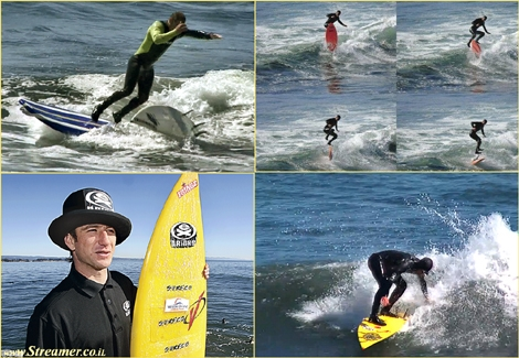 "<font color=""#003366""><strong>Zlotan Torkos from San Diego California, has built an aura of  mysticism around him. He names the strangest surf moves and never quits  until it's well done. <a href=""http://streamer.co.il/clips/view/112/"">click here to watch</a></strong></font>"