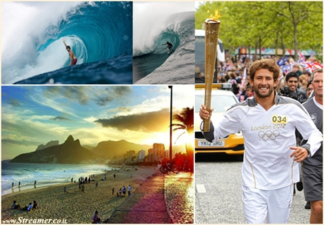 "<font color=""#003366""><strong>Big wave Surfer, <font color=""#990000"">Gabriel Villaran</font> from peru <strong>proudly carried the Olympic Flame of London olympics 2012, while surfers of brazil</strong><strong> wants to join the Rio 2016 Olympic  Games and launched a global campaign to get surfing   included. <a href=""http://streamer.co.il/news/view/341/"">Click here to read</a></strong></strong></font>"