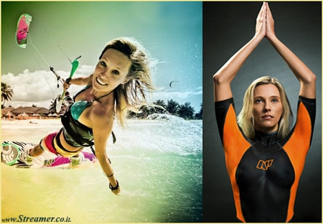 "<font color=""#003366""><strong>Almost 30 years after <strong>Jenna de Rosnay was </strong><strong>advertising the </strong><strong>famous body painting </strong><strong>wetsuit</strong><strong> ad designed for Neil Pryde, </strong>professional  kiteboarder Susi Mai recreate the iconic wetsuit add - <a href=""http://streamer.co.il/news/view/342/"">Click here to watch and read</a></strong></font>"
