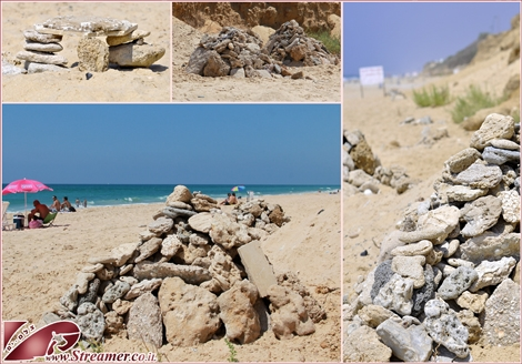 "<font color=""#003366""><strong><font color=""#990000"">Stone Balancing</font> in the north shores of Ashqelon. A global artistic movement with spirtual and phisical aspects. <a href=""http://streamer.co.il/articles/view/139/"">Click here to read more</a></strong></font><br />"