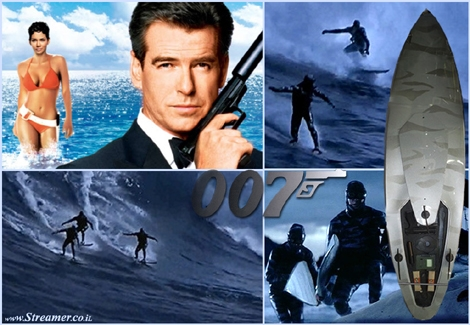 "<font color=""#003366""><strong><font color=""#840000"">My Name is Bond, James bond and I'm a surfer too.</font> The surf scene is long and intense, James Bond opens the &quot;007 - Die Another Day&quot; spy movie with a big wave surfing stunt. <a href=""http://streamer.co.il/articles/view/145/"">Click here to read and watch</a></strong></font>"