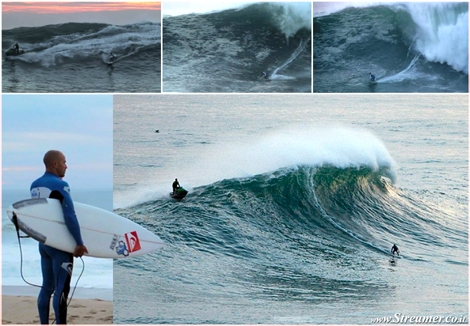"<font color=""#003366""><strong>During his stay at the Portuguese ASP World Tour, <font color=""#990000"">Kelly Slater</font> has joined Garrett McNamara in a big wave surfing session at Praia do Norte, Nazare, in Portugal. click here to <a href=""http://streamer.co.il/news/view/361/"">read and watch</a> the surf session</strong></font>"