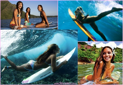 "<font color=""#003366""><strong><font color=""#7a007a"">Beauty power - The surfer girls, Wahines of the sea.</font> Above the water: young women surfers (wahines), slide across the waves with a grace that contrasts the crashing waves and rowdy crowds.</strong></font><font color=""#7a007a""><strong><font color=""#003366"">Below the water: wahines  peacefully slip through the sea like mythical mermaids. <a href=""http://streamer.co.il/articles/view/149/"">Click here to read and watch</a> the beauty of surfer girls under the waves</font><br /></strong></font>"