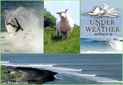 "<font color=""#003366""><strong><font color=""#650000"">New-Zealand</font>, The long white cloud, is heaven on earth for surfers too. <font color=""#650000"">&quot;Under The Weather&quot; is a new surf film</font> by Damon Meade. The film has been shot entirely in New Zealand, taking a journey from the far North to the deep South and many places in between Along with top Kiwi surfers. <a href=""http://streamer.co.il/clips/view/118/"">Click here to watch</a></strong></font>"