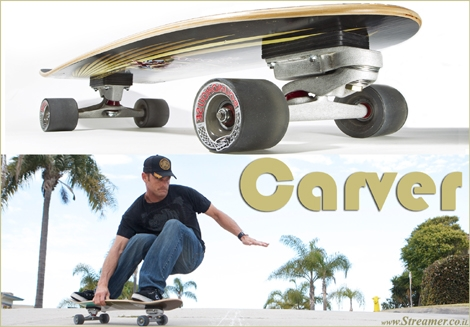 "<font color=""#003366""><strong><font color=""#700000"">Carver: The ultimate skateboard for surfers.</font>  The Carver board blurs the line between skateboarding and surfing. The  Carver skateboard is designed to replicate the feeling and movements of  surfing and it does an excellent job of doing just that. <a href=""http://streamer.co.il/articles/view/157/"">Click here to read</a></strong></font>"