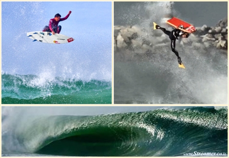 "<font color=""#003366""><strong><font color=""#700000"">Surfer versus Bodyboarder</font>  in the barrels of Supertubos. The eternal rivalry between surfers and  bodyboarders has been put to the test, during the Red Bull Tow Out  Session, held in the tubular waves of Peniche, in Portugal. Who's best  in a tow-out  session? Who pulls the highest aerials? Who breaks more  boards? <a href=""http://streamer.co.il/clips/view/122/"">click here to find out</a> :)</strong></font>"