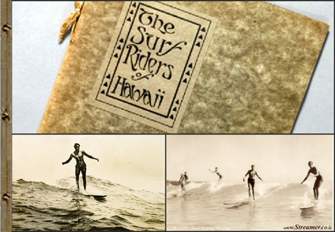 "<font color=""#003366""><strong>&quot;<font color=""#650000"">The Surf Riders of Hawaii</font>&quot;,  by A.R. Gurrey, features unique articles and photos with surfers from  Waikiki. The surf book was published in 1914 and showcases relevant  information about the sport. The first book in the history of surfing  will be auctioned for sale - <a href=""http://streamer.co.il/news/view/401/"">Click here to read</a></strong></font>"