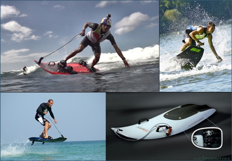 "<font color=""#003366""><strong><font color=""#5b0000"">&quot;Burn rubber&quot; on the waves with Jet Surfing</font>!  The future is here. A new division has been born in the world of  surfing: Imagine a blend of surfboards, wakeboards and kiteboards. Now,  add a 100 cc&nbsp; motor power and a Formula 1 design engineer and go jet  surfing - <a href=""http://streamer.co.il/news/view/405/"">Click here to read</a></strong></font>"