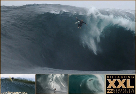"<font color=""#003366""><strong><font color=""#5b0000"">Five heavy beatings</font>. The 2013 Billabong XXL Global Big Wave Awards highlighted the toughest wipeouts of the season. The nominees have suffered dangerous falls at The Right, Mavericks, Jaws and Nazar&eacute;. Click here to <a href=""http://streamer.co.il/news/view/406/"">read and watch</a><br /></strong></font>"