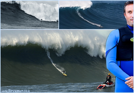 "<font color=""#003366""><strong><font color=""#700000"">Shawn Dollar</font> from  California, caught a superlative giant 61 foot wave on December 2012  during a session at the Cortes BankThe Guinness World Records have  officially certified Shawn Dollar's 61-foot wave as a new paddle-in  world record. <a href=""http://streamer.co.il/news/view/413/"">Click here to read</a></strong></font>"