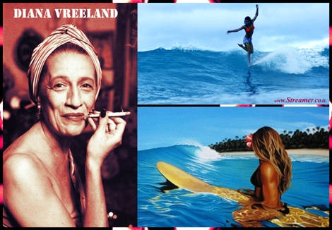 "<font color=""#003366""><strong><font color=""#7a0000"">Diana Vreeland and her Passion for surfing</font>. The documentary &quot;The Eye Has to Travel&rdquo; is a wonderful entertaining portrait of the larger than life fashion icon Diana Vreeland. In the film she is revealing her passion for surfing in a very unique way. <a href=""http://streamer.co.il/articles/view/167/"">Highly recommended to watch</a> </strong></font>"