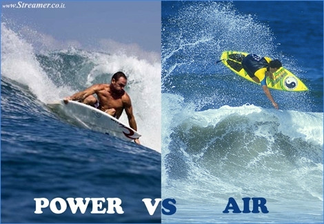 "<font color=""#003366""><strong><font color=""#5b0000"">Power Vs Air.</font>   Aerial surfers are ruling the world of wave riding. Will surfers ever   return to the roots of power surfing wave face performance and dethrone   the aerial generation? <a href=""http://streamer.co.il/news/view/424/"">Click here to read</a></strong></font>"