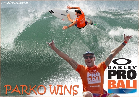 "<font color=""#003366""><strong><font color=""#840000"">Ozzie Power: Joel  Parkinson wins the Oakley Pro Bali.</font> Joel Parkinson has won the inaugural Oakley Pro Bali, after defeating  Michel Bourez, in 2 metre waves, at the iconic  Balinese righthander of Keramas. Click here to read</strong></font>"