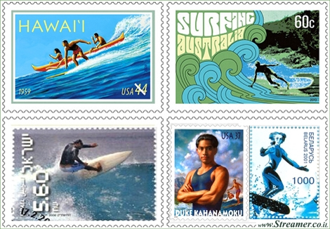"<font color=""#003366""><strong><font color=""#5b0000"">Surfing stamps from around the world.</font>  Surfing stamps are rare and unique. In fact, the postage stamp may only  be a piece of paper with gum adhesive on the reverse side, but  collectors know how to value it. And surfers too. <a href=""http://streamer.co.il/articles/view/169/"">cliclk here to stamp</a></strong></font>"