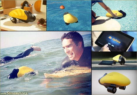 "<font color=""#003366""><strong><font color=""#650000"">Ziphius is the next surfer's drone friend</font>! Ziphius is the  newest smartphone or tablet-controlled surf gadget. The aquatic drone is  equipped with a built-in camera and can ride along with the surfer in  the wave line. <a href=""http://streamer.co.il/news/view/431"">Click here to read more</a><br /></strong></font>"