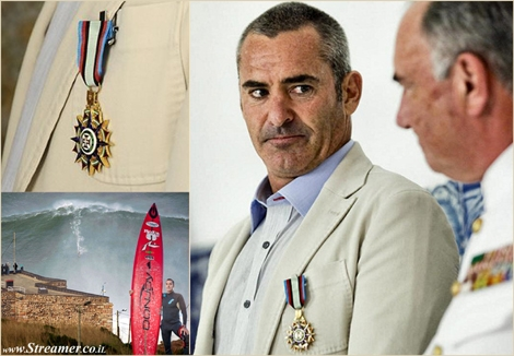 "<font color=""#003366""><strong><font color=""#5b0000"">Huge respect to a big wave surfer!</font> Garrett  McNamara. has been honored by the Portuguese Navy with Vasco De Gama medal. <a href=""http://streamer.co.il/news/view/434/"">Click here to read more</a> </strong></font>"