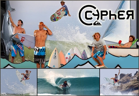 "<font color=""#003366""><strong><font color=""#650000"">Cypher Vision with the &quot;Phantom&quot; slow-mo speed technique.</font> Chris bryan's high speed cinematography of 1000 fps, continues with a short surfing film with 4 mega surfers: Raynolds, Willson, Flores and Slater. <a href=""http://streamer.co.il/clips/view/130#bonus"">Click here to watch</a></strong></font>"