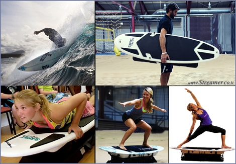 "<font color=""#003366""><strong><font color=""#650000"">Surfset Fitness - Riding waves &amp; training at home!</font> Not that we don't already get enough exercise in the water but it never hurts to workout during the down time. Introducing the world's first total-body surf trainer, designed to simulate the physical demands of surfing without the ocean - <a href=""http://streamer.co.il/news/view/436/"">Click here to read</a></strong></font>"