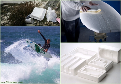 "<font color=""#003366""><strong><font color=""#005c00"">Recycling foam into new surfboards.</font> Waste to Waves is an new program that recycles waste polystyrene foam into new surfboards. Turn your trash into slash by recycling your waste&nbsp; into new products like recycled surfboard blanks. <a href=""http://streamer.co.il/news/view/438/"">Click here to read</a></strong></font>"