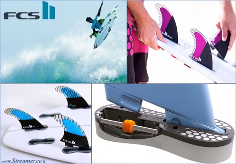 "<font color=""#003366""><strong><font color=""#5b0000"">FCS II System revolutionary fins with no screws.</font> The new FCS II System promises to become the new world standard in system technology and performance. The latest surfboard fin revolution does not need any screws or tool to secure the fins to the surfboard. <a href=""http://streamer.co.il/news/view/441/"">Click here to read</a></strong></font>"