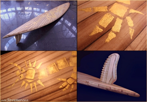 "<font color=""#003366""><strong><font color=""#510000"">The most expensive surfboard in the world!</font> Roy Stuart, the Big Kahuna of handcrafted New Zealand wooden surfboards, created an enhanced version of the Dragon and has put it up for sale with a hefty price tag of $1.3 million. <a href=""http://streamer.co.il/news/view/447"">Click here to read more</a></strong></font>"