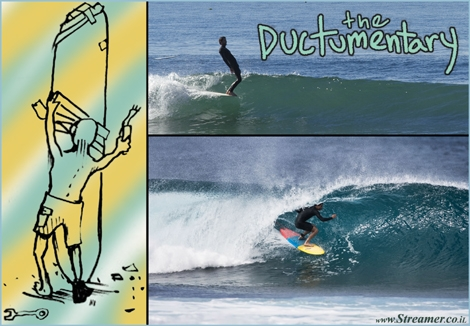 "<font color=""#003366""><strong><font color=""#5b0000"">The Ductumentary Surf film.</font> Joel Tudor is one of the most influential surfers ever. His classic style transcends generations and is just as relevant today as it would be 40 years ago. The Ductumentary is a short film that gives the history of Tudor&rsquo;s life - <a href=""http://streamer.co.il/clips/view/139"">Click here to watch</a></strong></font>"