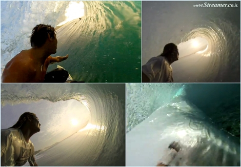 "<font color=""#003366""><strong><font color=""#470000"">Inside-out tubing with Mikala</font>. North Shore Indo transplant Mikala Jones tries his hand at some &lsquo;Inside Out&rsquo; sequences at Keramas. purring green, orange and yellow cats and Some of the best tube views you'll ever see. <a href=""http://streamer.co.il/clips/view/140"">Click here to watch</a></strong></font>"