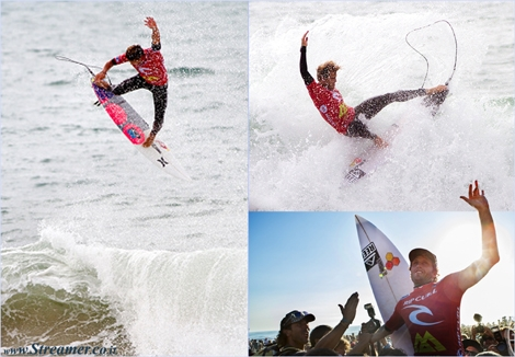 "<font color=""#003366""><strong><font color=""#650000"">ASP Portugal 2013:</font> Kai Otton has defeated Nat Young to conquer the Rip Curl Pro Portugal 2013 and Julian Wilson has pulled one of the biggest Alley-Oops in the history of competitive surfing, at Supertubos, Peniche, Portugal. <a href=""http://streamer.co.il/news/view/459"">Click here to read</a></strong></font>"
