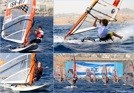 "<font color=""#003366""><strong><font color=""#5b0000"">Israel's junior wind surfers dominate the 2013 Techno European championship!</font> Out of 131 competitiors, 8 Israelis got medals: Ofek Elimelech, Mariam Sekhposyan, Itai Kafri and Katy Spychakov have conquered the European Championship, in Eilat, Israel. RESPECT - <a href=""http://streamer.co.il/news/view/464"">Click here to read</a></strong></font>"