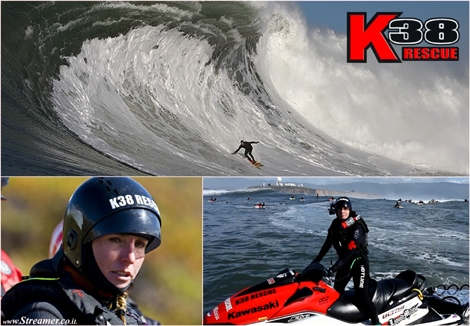 "<font color=""#003366""><strong><font color=""#650000"">K38 Rescue and the woman who saves big wave surfers.</font> Her name is Shawn Alladio and She has been teaching how to save fearless wave riders' lives, since 1989. Shawn Alladio is the foremost expert in jet ski safety and rescue. Despite not living under the media radar, she has saved lives of the best big wave surfers in the world and one of the most influential people in big wave surfing. <a href=""http://streamer.co.il/news/view/468"">Click here to read more</a></strong></font>"