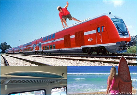 "<font color=""#003366""><strong><font color=""#510000"">Surfers on board!</font> Israeli busses and train companies allows surfbords on board. <a href=""http://streamer.co.il/news/view/472"">Click here to readthe terms</a><br /></strong></font>"