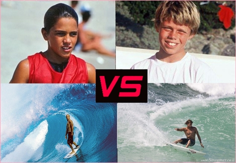 "<font color=""#003366""><strong><font color=""#470000"">Recognize the kids? Slater VS Reynolds </font>in te </strong><strong>Battle of the Power Surfers. Who's  the better  surfer? You decide. In this brand new web series, we let you  be the  judge of who charges harder. <a href=""http://streamer.co.il/clips/view/147"">Click here to watch</a><br /></strong></font>"