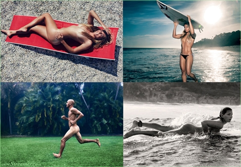 "<font color=""#003366""><strong><font color=""#5b0000"">Naked surfers</font>. ESPN stripping Maya babeira, Kelly Slater, Clair Bevilacqua and stephany Gilmore. The latest surfer to feature in the annual collection of ESPN&lsquo;s Body Issue, is big-wave girl Maya Gabeira. <a href=""http://streamer.co.il/news/view/478"">Click here to read</a></strong></font>"