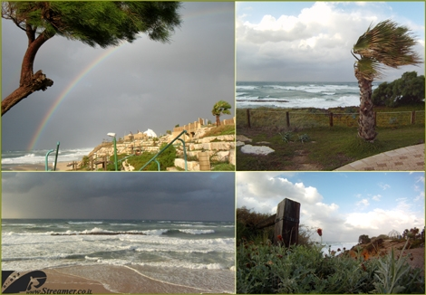 "<font color=""#003366""><strong>1<font color=""#510000"">1.12.13 - Nice date for a stromy day</font>. Strong winds, rough sea, rain and  a lots of action on the beach of Ashkelon. Power of nature is reflected  in the breathtaking scenery, the colors of the landscape, cloudy sky  and rainbow emerges in variety of colors. Streamer's surf report returns  with weather forecast <a href=""http://streamer.co.il/live"">Click here to watch</a> :)</strong></font>"